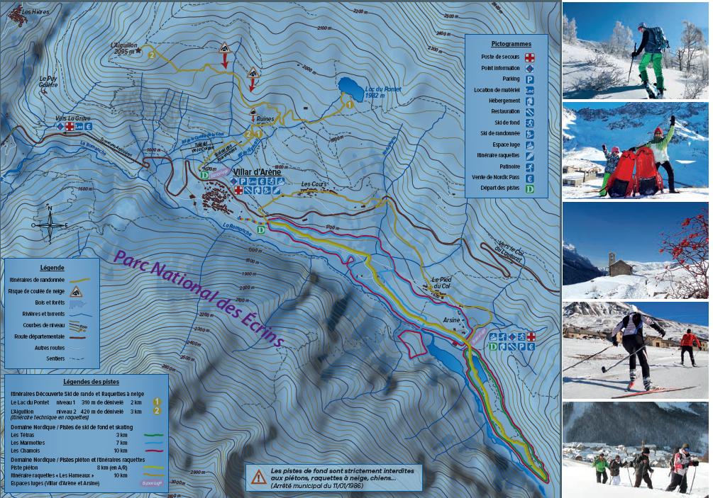 ski nordique au pays de la meije